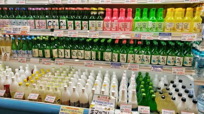 Makgeolli in a Korean Grocery Store in Shin Okubo Tokyo